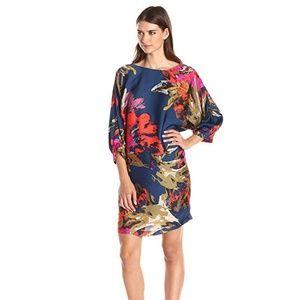 Trina Turk Naideen Fine Arts Floral Silk Dress M